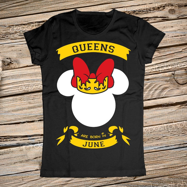 88946a11 Queens are born in May-June-July-August Personalized Disney   Etsy