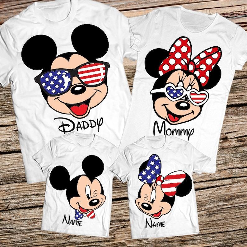 b1c2d2fda2f1a Disney family vacation Fourth of july shirt Custom disney