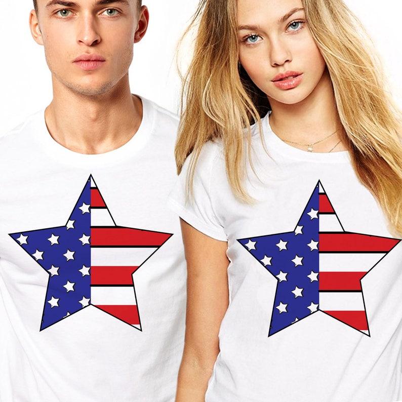 4295ef565e7a0 Couple tshirt Couple Tees Couples Shirts American flag