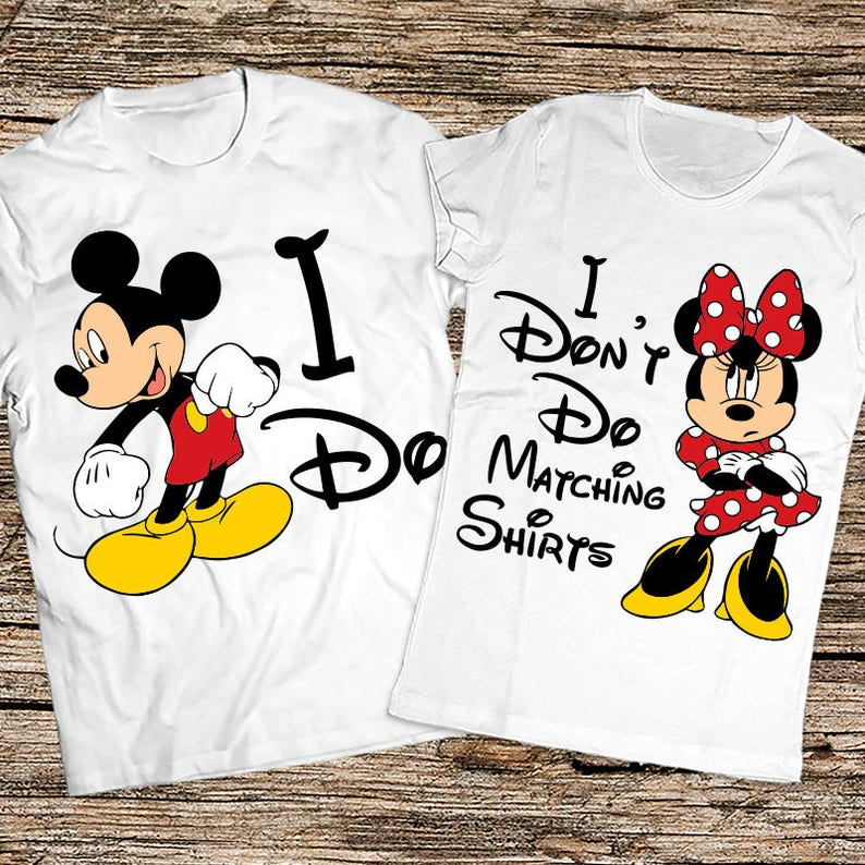 d805e884d4 I Don't Do matching shirts I Do Funny disney couple | Etsy