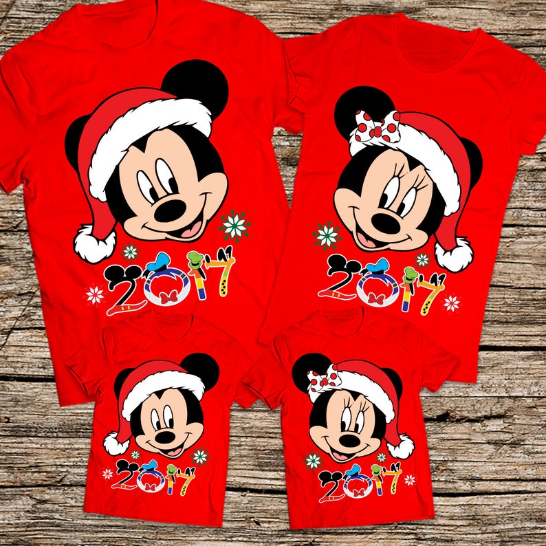 062d7d666a Mickey and Minnie Christmas shirts Disney Christmas family   Etsy