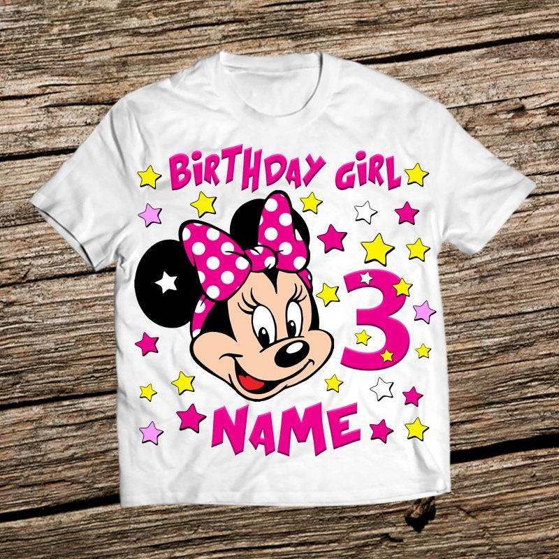 Disney Birthday Girl Shirt Minnie Mouse Birthday Shirt