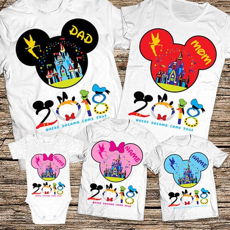 Disney Shirts Disney Family Shirts Personalized Disney Vacation Shirts 2019 Matching Family Disney Shirts Disney Family Vacation Shirts