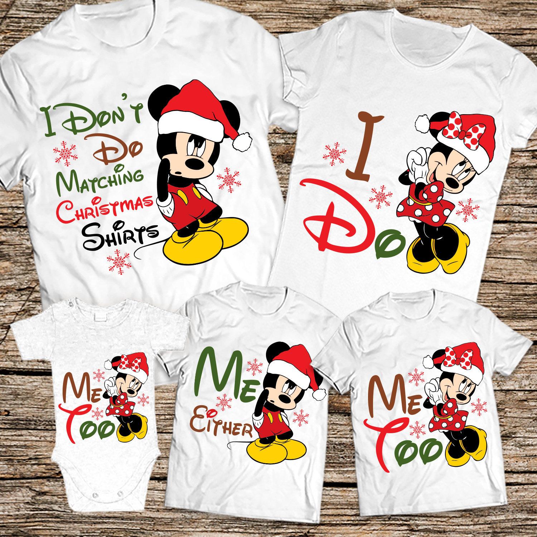 1969033a I Don't Do Matching Christmas Family Shirts Funny Disney | Etsy
