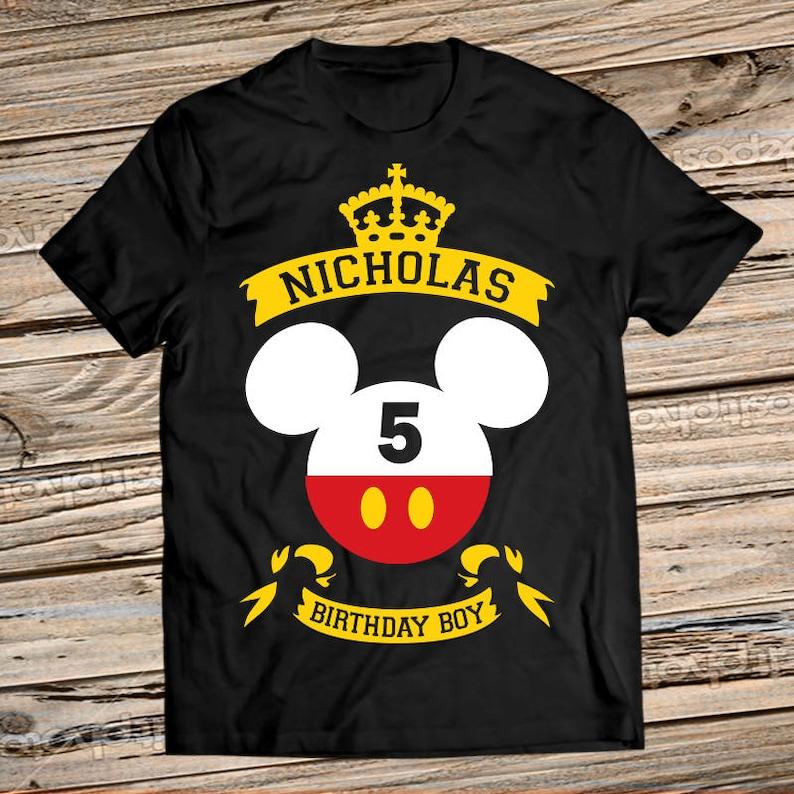 Mickey Mouse Birthday Shirt Disney Boy