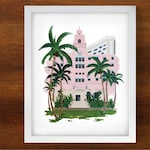 Royal Hawaiian Hotel Giclee Art Print // 8x10 Size // Wish You Were Here