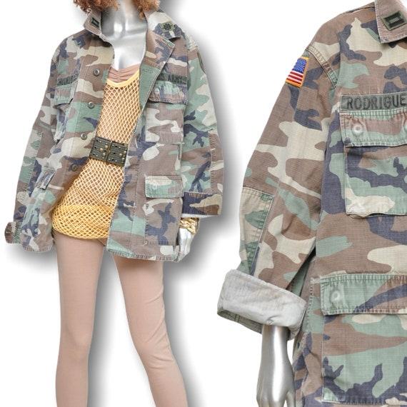 Vintage US Military Camouflage Jacket Unisex Size