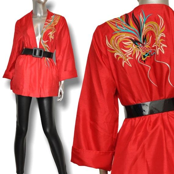 Vintage Red Bob Mackie Wearable Art Lightweight Ja