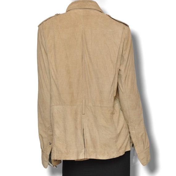 Vintage Ralph Lauren Beige Suede Leather Safari J… - image 6