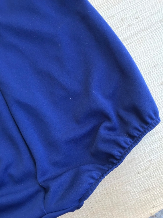 Vintage Women's Swimsuit One Piece Navy Blue Whit… - image 7