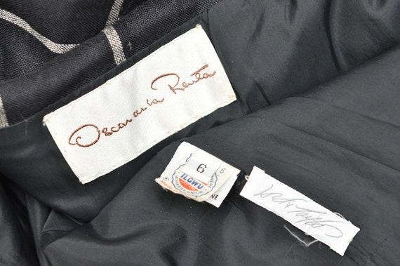 Vintage Oscar de la Renta Black and White Plaid C… - image 10
