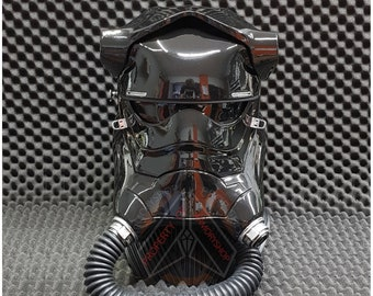 First Order TIE Pilot Finished Helmet feat. Star Wars The Force Awakens / The Last Jedi Replica Prop