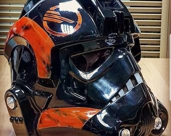 Inferno Imperial TIE Pilot WEATHERED Helmet Star Wars Battlefront 2 Replica Prop