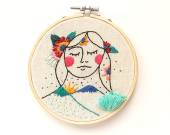 Drawing to Stitch Healing Mama Earth, Embroidery, Needlework