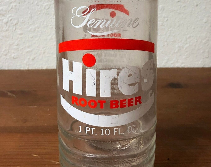 Genuine Hires Rootbeer Bottle 1 Pint 10 Ounce Size Great Display Piece