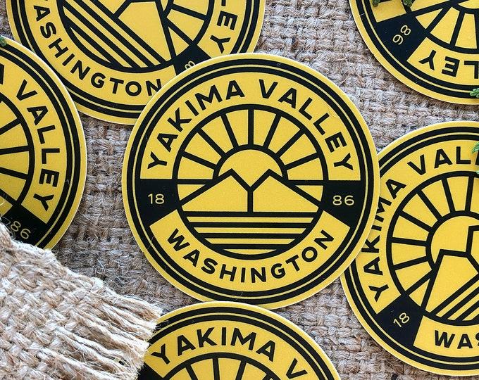 Yakima Valley Washington Sticker High Quality 3 Inch Round Sticker