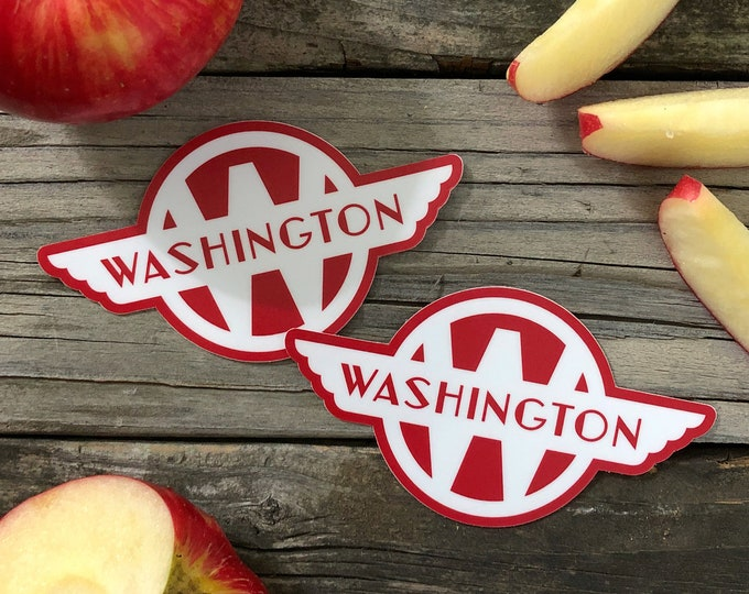 Vintage-Inspired Washington State Train Car Logo Sticker FREE SHIPPING!
