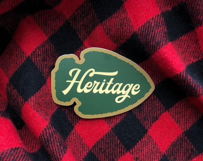 Heritage Outfitters Arrowhead Sticker FREE SHIPPING!