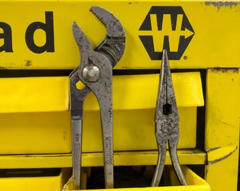 Pair of 2 Vintage Channellock Pliers Needle Nose Pliers & Channellock No. 420 Meadville, Pennsylvania Made in USA