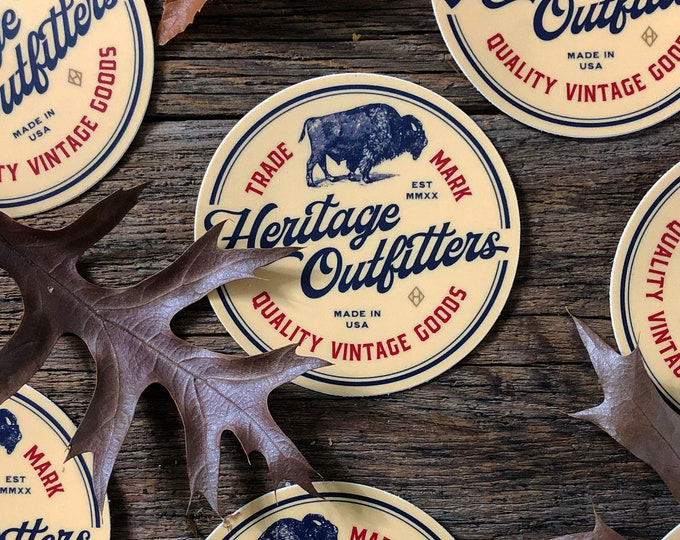 Heritage Outfitters 3 Inch Logo Sticker