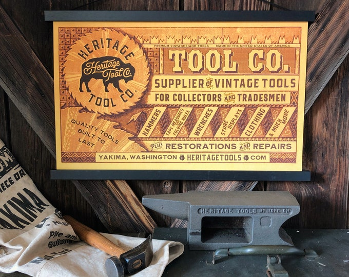 Heritage Tool Co. 12x20 Shop Poster