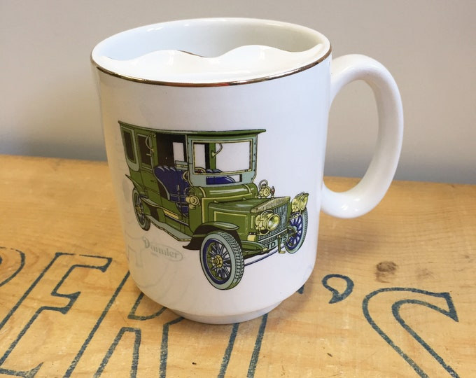 Lord Nelson Ceramic Shaving Mug with 1906 Daimler Handcrafted in England