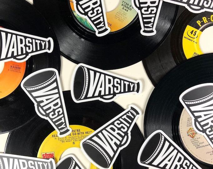 Varsity Megaphone 3 Inch Die Cut Sticker FREE SHIPPING!
