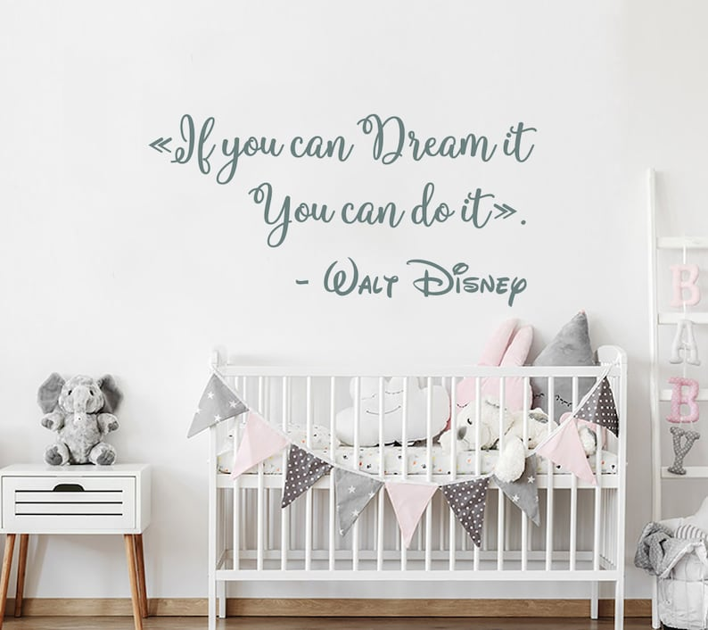 Wall Decal Quote Mickey Mouse Vinyl Sticker Laughter is timeless Nursery NV59