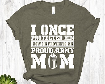ebfd8690 Army Mom Shirt | Army Mom | Proud Army Mom | Military Mom Shirt | Mother's  Day Gift | Gift for Army Mom