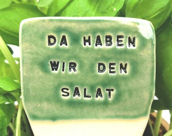 Herb sign with funny text, herb marker ceramic, humorous plant marker, funny garden sign, garden decor, garden sign, sustainable plant signs