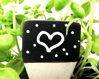 Blank herb marker, ceramic herb sign, plant marker to write on, garden decor, flower pot decor, garden sign, plant signs, vegetable sign