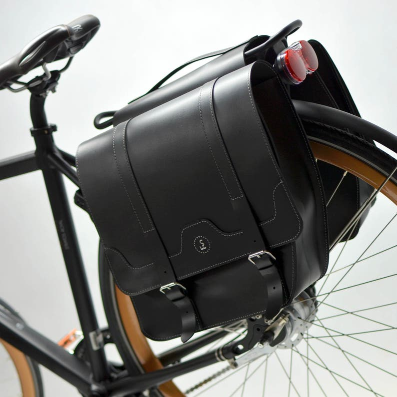 81be8e9b291 Double leather panniers leather saddlebag gifts for