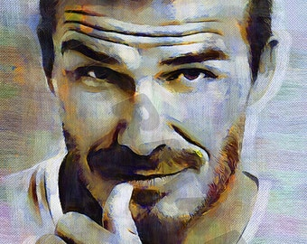 David Beckham Art Print - Oil Painting Poster  LFF0035