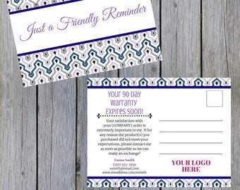 Thirty-One Warranty Reminder Follow Up Customer Postcard | NEW Spring Prints | Customized | Direct Sales | Printable | Digital Download