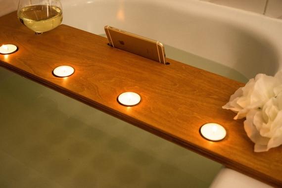 plateau de bain copain de la salle de bain salle de bain spa etsy. Black Bedroom Furniture Sets. Home Design Ideas