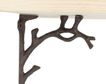 Pair of Decorative Tree Branch Shelf Brackets