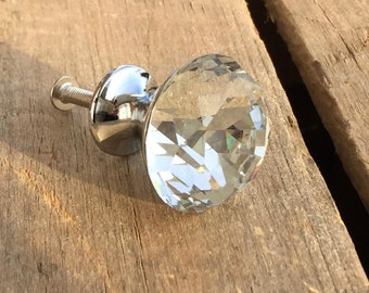 Faceted Glass Drawer Knobs