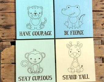 Safari Animal Nursery Signs