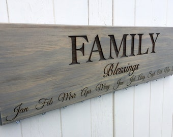 READY TO SHIP, Family Blessings Calendar Board