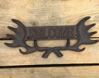Antler Welcome Sign