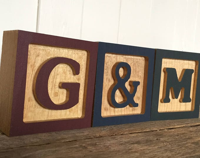 Featured listing image: Wooden Alphabet Letter Blocks