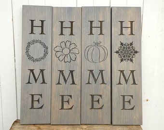 Wooden Home Mantle Sign