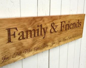 Family & Friends Calendar Board