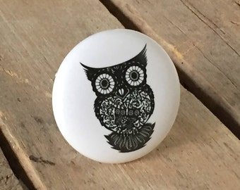 Owl Ceramic Drawer Knob