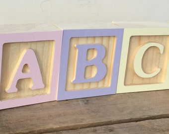 RESERVED For SINAI G, 3x ABC Letter Blocks