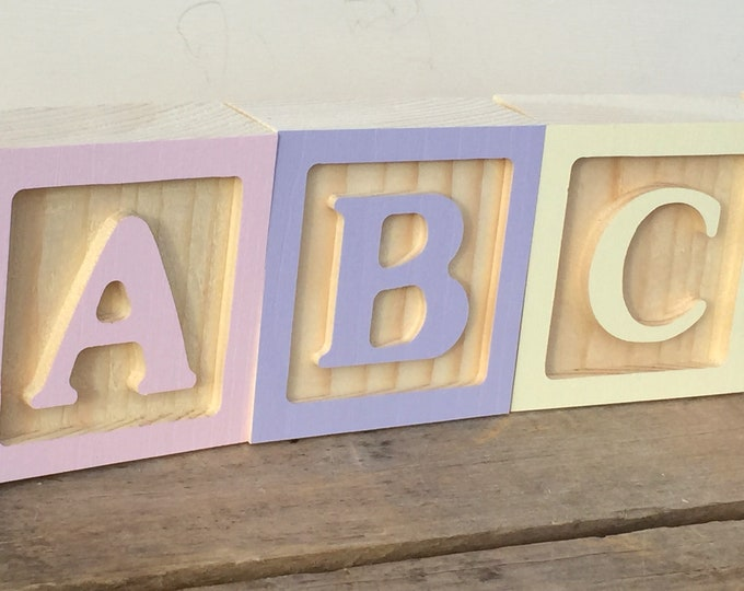 Featured listing image: Wooden Letter Blocks