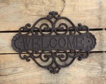 Large Welcome Plaque