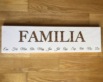 RESERVED FOR MARTHA F, Familia Board with 30 tags