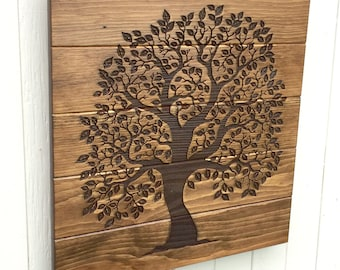 READY TO SHIP, Tree of Life Wooden Sign