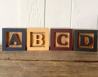 mini wooden letter blocks mini alphabet block small abc block birthday gift baby shower gift farmhouse home decor